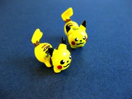 Pikachu Stud Earrings IV by sunnyxshine