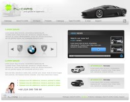 Supercars - Layout by: Felline by WebMagic
