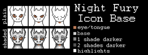 Night Fury Icon Base - FREE by Tales-of-Haven