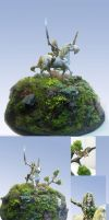 Girl on Unicorn mini sculpt by Morhin