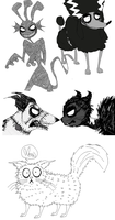 Frankenweenie Doodles by CHANELGoo