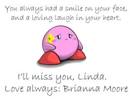 Sad Kirby for Linda by generalbrievous