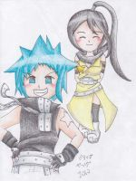 Chibi Black Star and Tsubaki by inukagome123