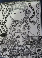ATC Zentangle by Kaztangle