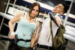 Otakuthon Nathan Drake and Lara Croft 1 by Stephanie-van-Rijn