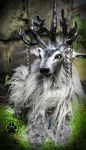 SOLD Merlin the storm rider caribou art doll! by CreaturesofNat
