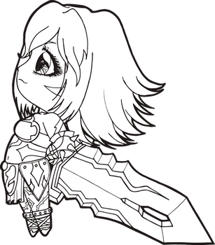 Black Rose .hack Chibi by Chibivi-Linearts