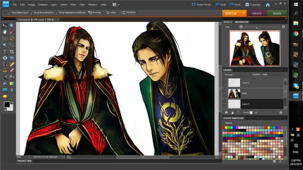 (WIP) Gu Feng : Butterfly silk of the 2nd Prince by NathanielTHX