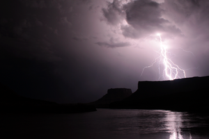 Storm over the Colorado River by OrganBoy