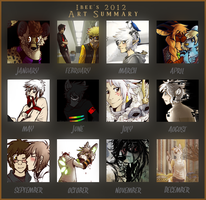 2012 Art Summary! by KingNeroche