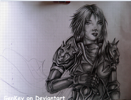 ARMOR GIRL - ( time lapse drawing ) - VIDEO by GenKey