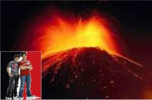 Drake and Josh and a Volcano by NickelodeonLover