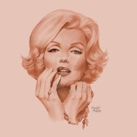Marilyn play with a necklac by Pablito-Matito