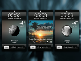 iOS Lock Weather - MIUI LS Theme by ex-slym