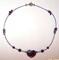 Purple Heart Necklace by solitarymuse