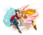 Freya and Mireille by Chyana