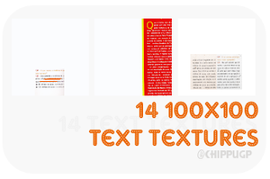 Text Textures by nakayubi