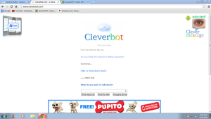 Cleverbot scares me.... by puppybulldogfaceART
