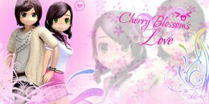 cherry blossom couple by dbesta02