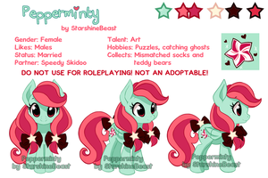 Pepperminty reference sheet by StarshineBeast