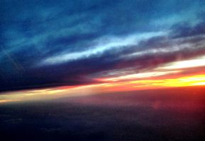 Sunset at 22,000 ft by TheGerm84