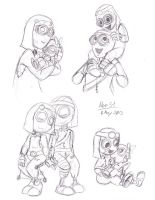 9 Comm: 110 and 117 Family Sketchdump by NeroStreet