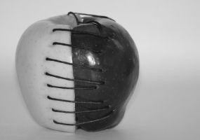 Apple (Black and White) by FlyteWizard