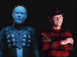 Freddy vs Pinhead by WolfShadow14081990