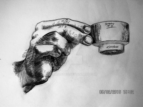 Hand and cup 2 by Sckralchet