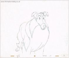 Lassie Production Cel by AnimationValley