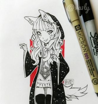 A Witch  by Va1ly