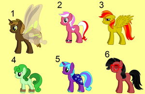 OPEN: Free MLP Adopts [Set #2] Colourful by FrozenStrike
