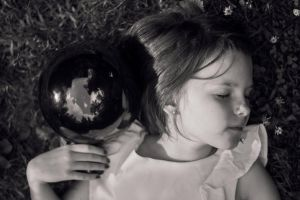 Luca and her magic globe by esztervaly