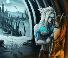Winter in Icecrown by Gone-Batty