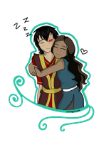 Katara With Sleepy Zuzu by CuriouslyXinlove