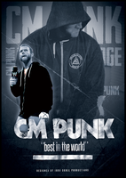WWE - CM PUNK poster by TheIronSkull