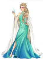 Fashion Illustration - Elsa by zyrabanez