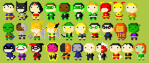 Tiny Tower Characters:  DC Universe by DylanBaugh
