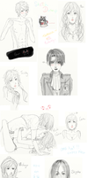Sketch Dump #I by HimeChie