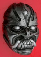 Metallic Ashura mask by mostlymade