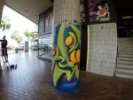 Wrap it up | Spray paint on pillar | 2014 by Syco03
