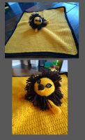 Lion Security Blanket by evilkitten25
