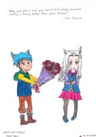 Fairy Tail-Happy and Charle (colour) by DrawerofAnime
