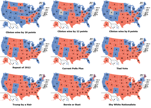 2016 Election Scenarios by YNot1989