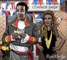 Dev and Sunita Alahan Coronation Street by pickledjo