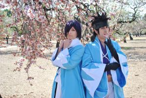 Shinpachi and Saito - Spring by ALIS-KAI