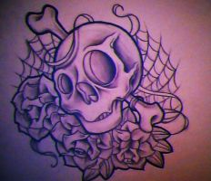 skull n roses by WillemXSM