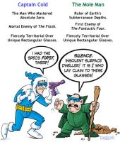 Profiles in Villainy: Captain Cold and Mole Man by mengblom