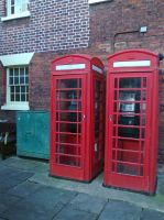 Red phone boxes by joelshine-stock