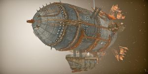 Steampunk airship by shaddam89
